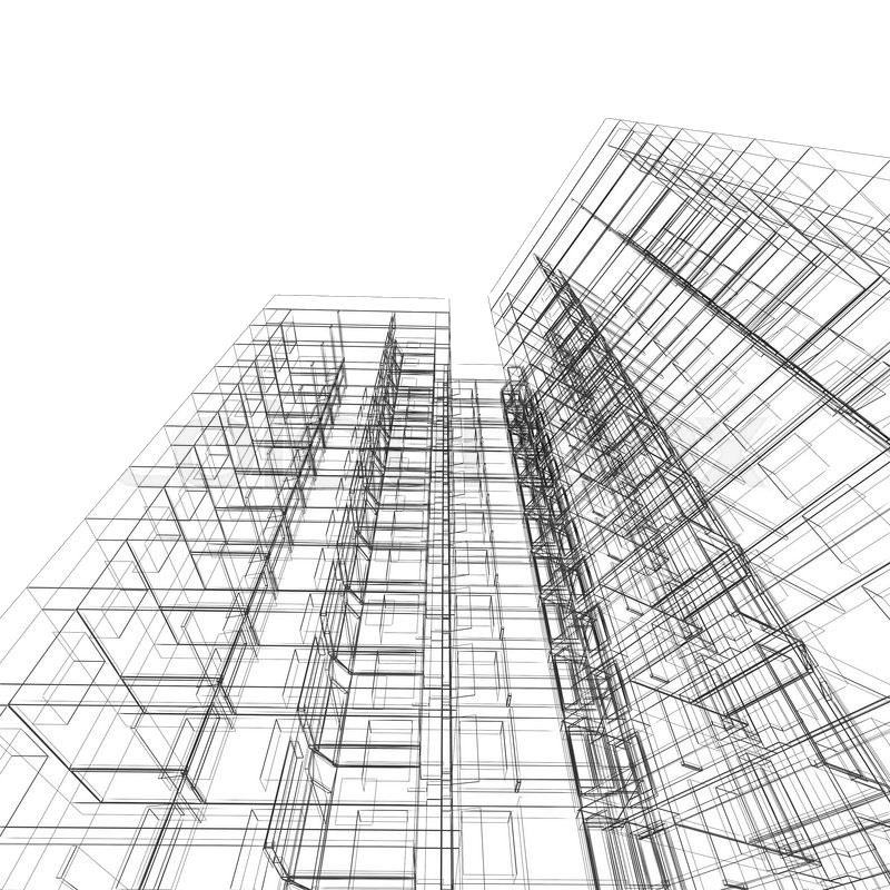 Building Blueprint Wallpaper